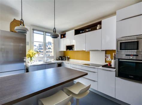 cuisine blanche et jaune cuisines jaunes 5 réalisations qui rayonnent le