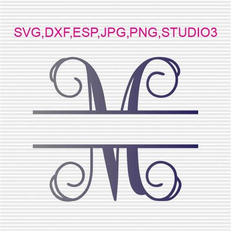 .it's time for some free design files that you can cut with your silhouette cameo or portrait! Buy 3 GET 1 FREE,Split Interlocking Font Monogram,Svg,Dxf ...