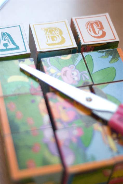 diy family portrait block puzzle   nursery  board