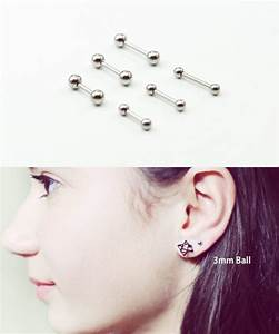 HiUnni Ear cartilage Piercings - Jeweled Barbells