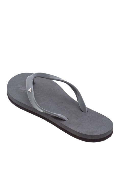 emporio armani women grey flat thong rubber sandals flip