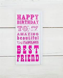 Geschenk 18 Geburtstag Beste Freundin : alles gute zum geburtstag beste freundin karte von wychwoodcuckoo geschenke pinterest ~ Frokenaadalensverden.com Haus und Dekorationen