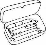 Pencil Box Clipart Clipartpanda Coloring Pages Terms sketch template