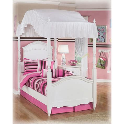 twin canopy bed magnolia home furniture white iron twin