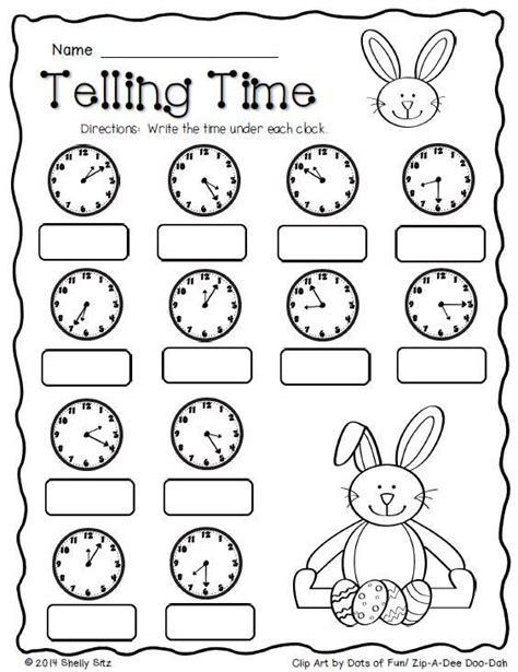 easter math telling time free second grade math 2 md 7