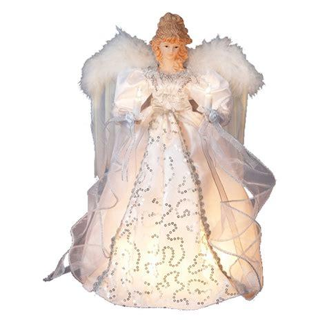 kurt adler angel tree topper kurt adler 14 quot 10 light white and silver treetop ebay