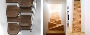 Escalier à Pas Japonais : escalier 1 4 tournant avec limon central en acier ~ Dailycaller-alerts.com Idées de Décoration