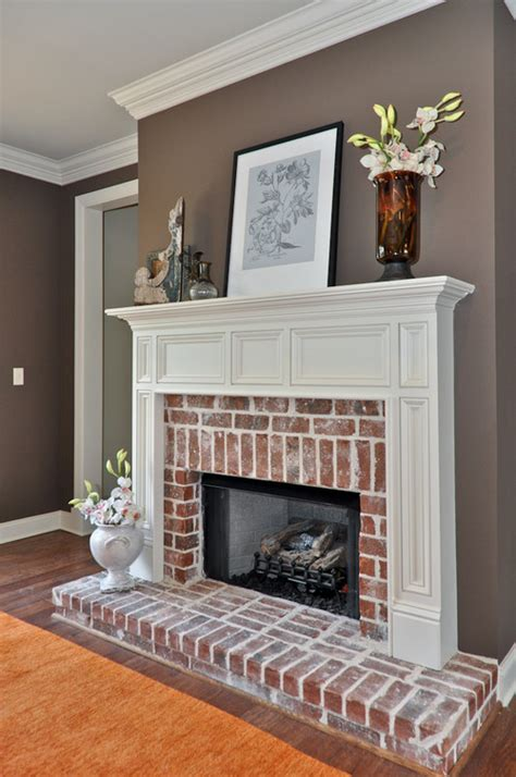 what color goes with a brick fireplace houzz ask