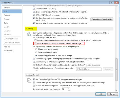 how to add a read receipt to an email in microsoft outlook