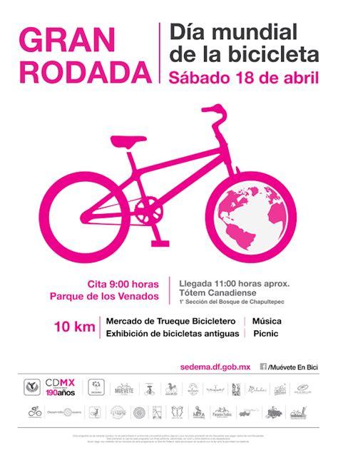 Este miércoles es el día mundial de la bicicleta. Gran Rodada por el Día Mundial de la Bicicleta