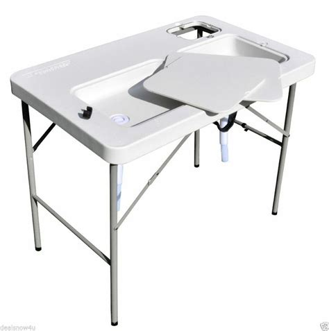 Aluminum Fish Cleaning Table With Sink by Earth Alone Earthrise Book 1 Cs Tailgate