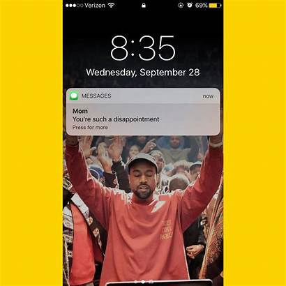 Kanye West Hands Screen Lock Holding Iphone