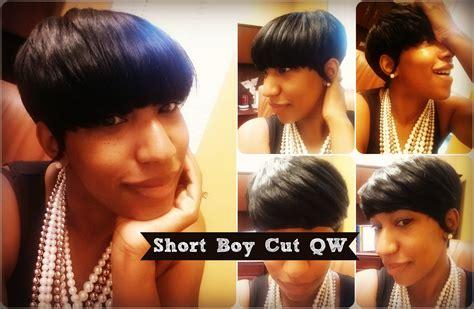 Short Boy Cut Qw Protective Style