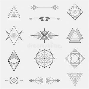 Geometrische Formen Berechnen : satz geometrische formen dreiecke linie design vektor abbildung illustration von muster ~ Themetempest.com Abrechnung