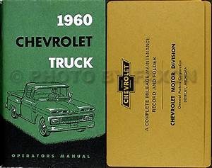 1960 Chevy Truck Owners Manual With Envelope 60 Chevrolet