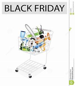 Craft Tools In Black Friday Shopping Cart Stock Vector ...