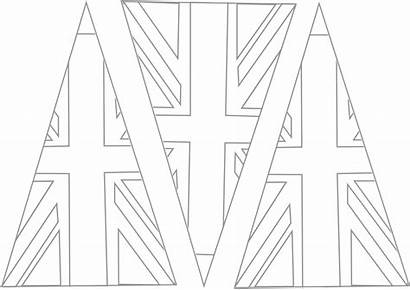 Bunting Union Jack Template Outline Pattern Buntings