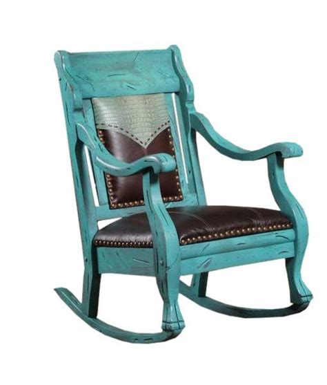 turquoise rocker with crocco embossed yoke and chocolate