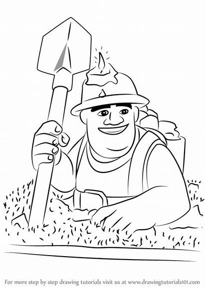 Clash Miner Clans Draw Royale Drawing Coloring