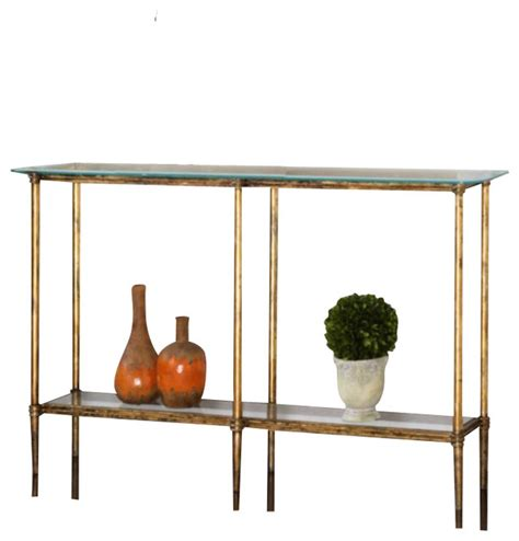 Uttermost Table Ls Uk by Uttermost Elenio Console Table In Bright Gold Leaf