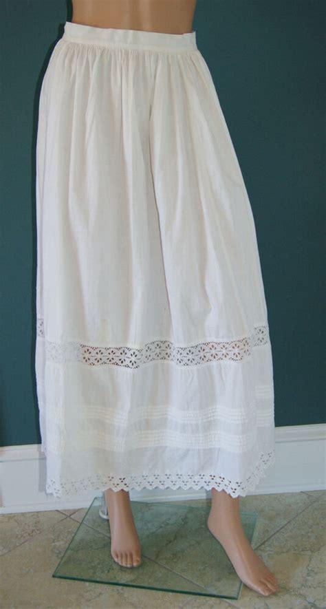 ebay petticoats antique vtg 1890 s white cotton petticoat half slip size 10 ebay