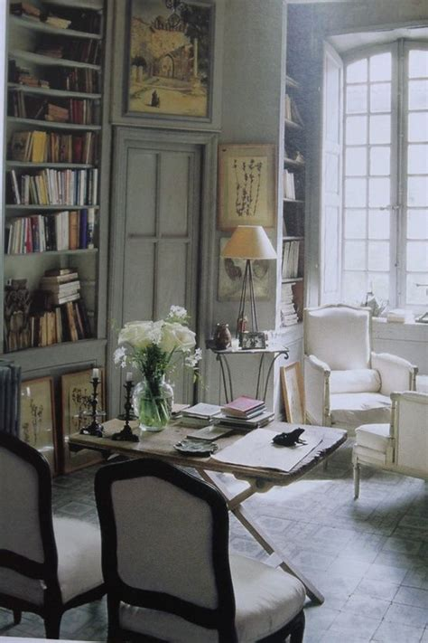 office study library french country images