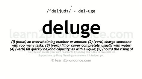 Deluge Pronunciation And Definition