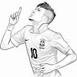 Neymar Desenho Football Kleurplaat Coloriage Coloring Soccer Ronaldo Colorir Player Imprimir Messi Psg Ausmalbilder Jr Juventus Fussball Futebol Sheet Roblox sketch template