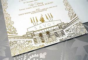 the savoy london intricate creations With foil blocked wedding invitations