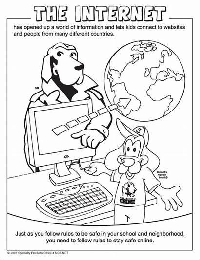 Coloring Internet Pages Safety Mcgruff Dog Crime