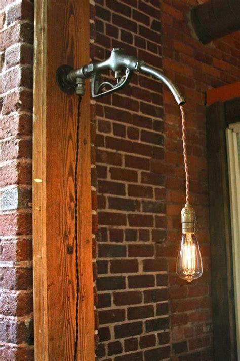 gas nozzle light fixture cool indoor design