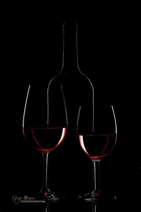 Wine Background Wine Bottle And Wine Glass On Black Background Greg