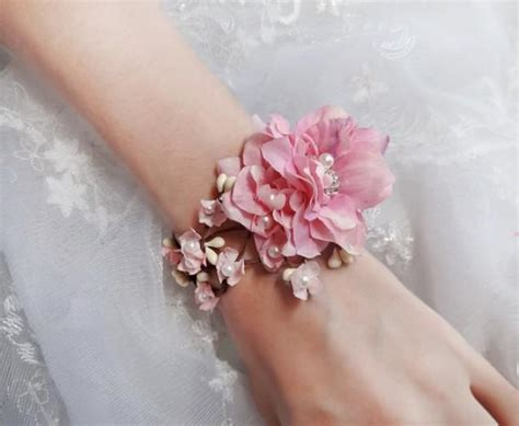 pink wedding wedding cuff bracelet bridal bracelet