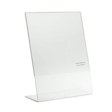 8 5 x 11 acrylic sign holder for table tops source one 8 5 x 11 inches acrylic slant back sign holder