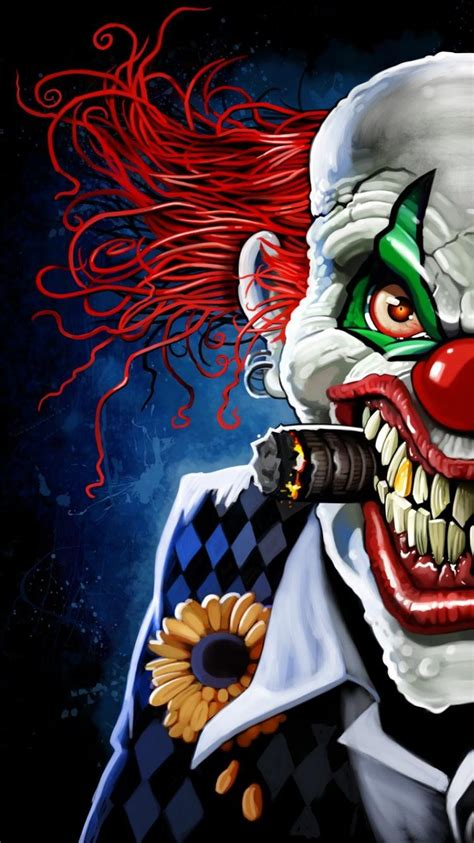 joker clowns digital art wallpaper