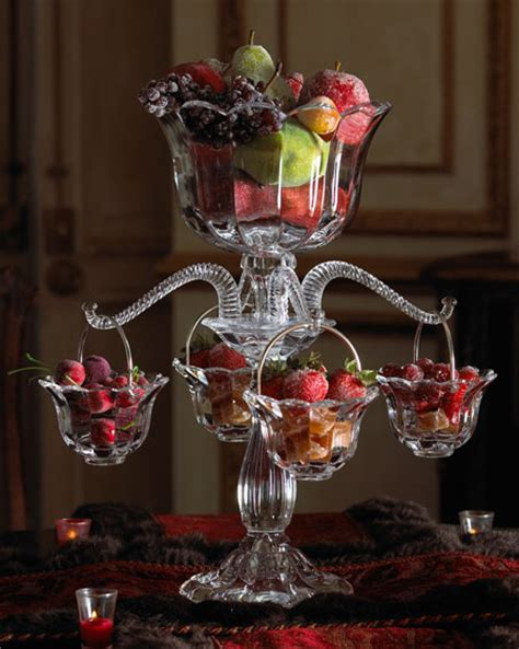 table centerpiece idea crystal epergne  horchow