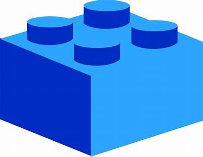 Lego Clip Brick Clipart Blocks Pieces Vector
