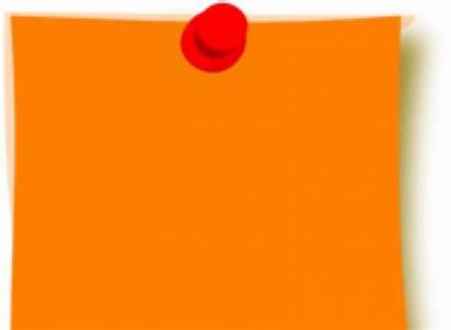 Note Orange Clipart