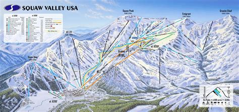 squaw valley piste maps and ski resort map powderbeds