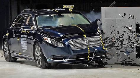 lincoln continental  crash test youtube