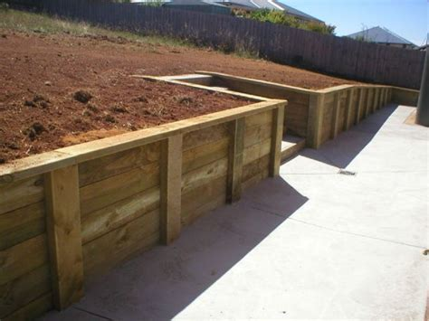 small timber retaining wall timber pole retaining wall blocks farmhouse design and furniture timber pole retaining wall