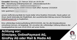 Abrechnung Directpay Ag : trojaner warnung achtung vor e mails der firmen directpay onlinepaymant ag giropay ag oder ~ Themetempest.com Abrechnung