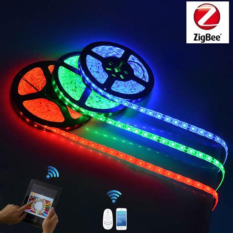 app controlled led lights zigbee led smart strip lights app control remote control
