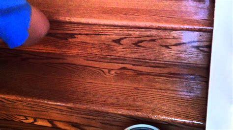 applying water based polyurethane to hardwood floors how to refinish oak hardwood stairs applying the