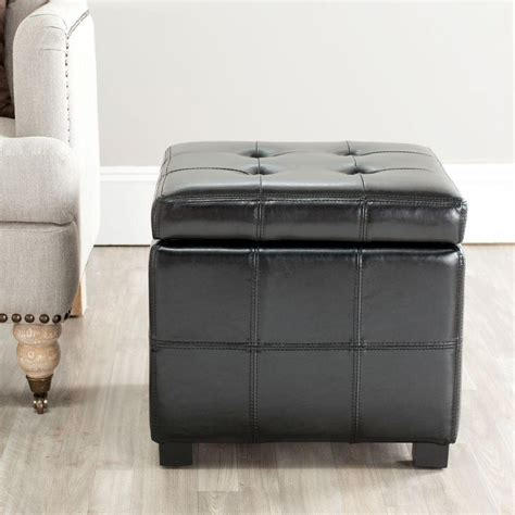 Black Ottomans With Storage by Safavieh Kerrie Black Storage Ottoman Hud8231b The Home