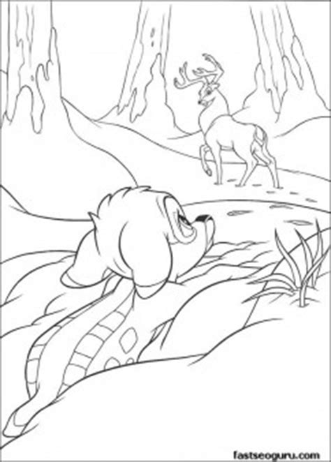 print  bambi   great prince coloring page  kids  printable coloring pages  kids