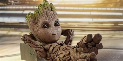 With This Lifesize Baby Groot Figure, You'll Be The Envy