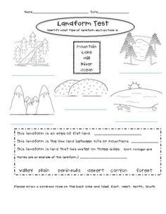 landforms worksheet 2nd grade worksheets for all