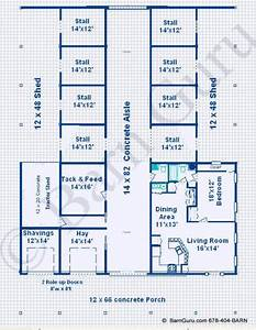 horse barn with living quarters plans ipeficom With 8 stall horse barn plans