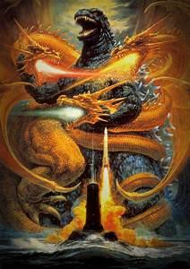 the 7 original godzilla posters by noriyoshi ohrai